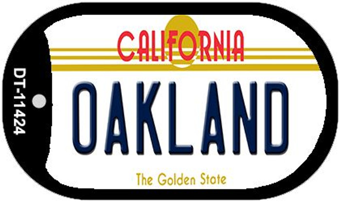 Oakland California Wholesale Novelty Metal Dog Tag Necklace DT-11424
