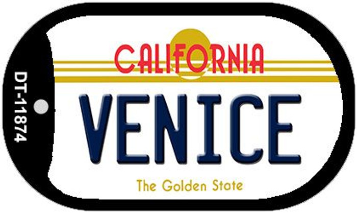 Venice California Wholesale Novelty Metal Dog Tag Necklace DT-11874