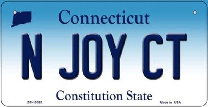 N Joy CT Connecticut Wholesale Novelty Metal Bicycle Plate BP-10890