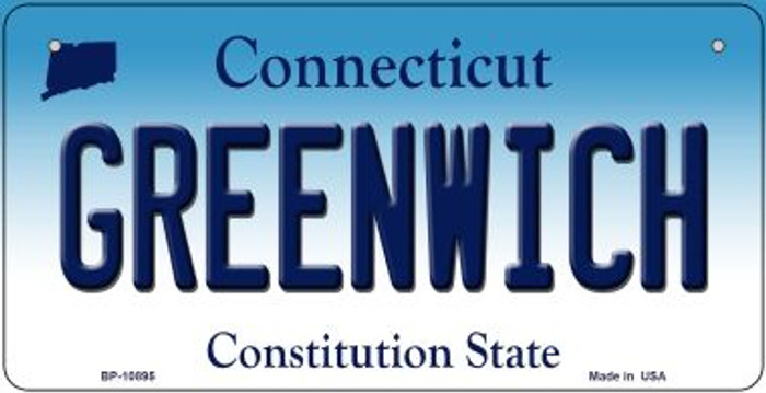 Greenwich Connecticut Wholesale Novelty Metal Bicycle Plate BP-10895