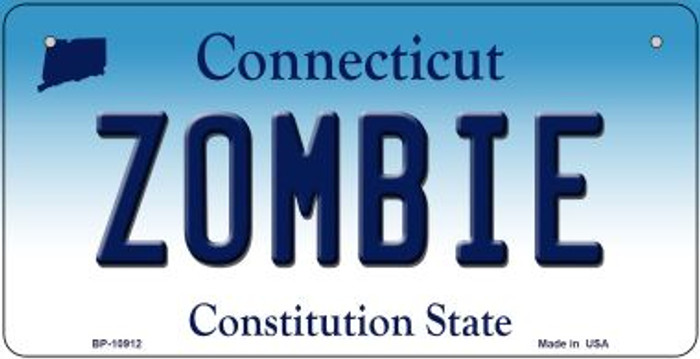 Zombie Connecticut Wholesale Novelty Metal Bicycle Plate BP-10912