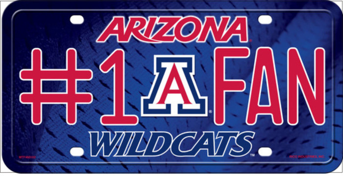 Wildcats Fan Embossed Wholesale Metal Novelty License Plate LP-961