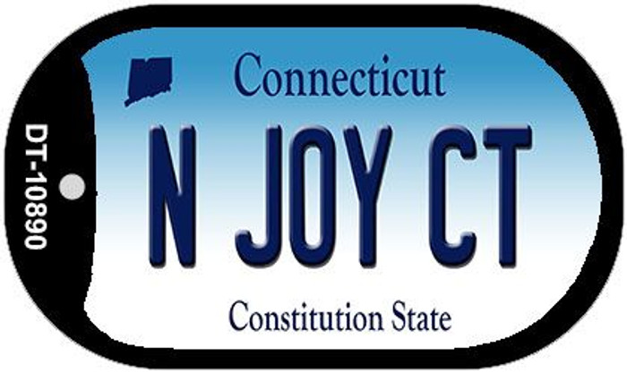 N Joy CT Connecticut Wholesale Novelty Metal Dog Tag Necklace DT-10890