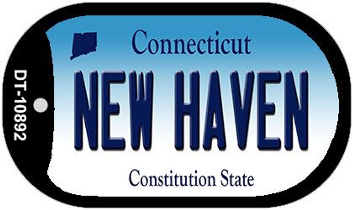 New Haven Connecticut Wholesale Novelty Metal Dog Tag Necklace DT-10892