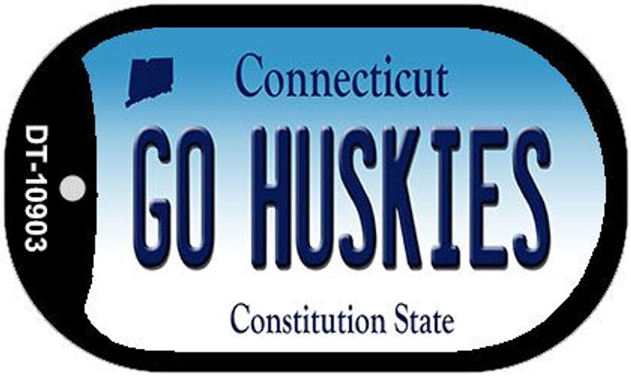 Go Huskies Connecticut Wholesale Novelty Metal Dog Tag Necklace DT-10903
