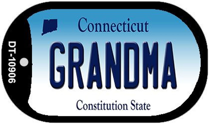 Grandma Connecticut Wholesale Novelty Metal Dog Tag Necklace DT-10906