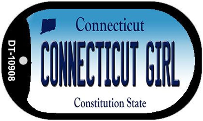 Connecticut Girl Wholesale Novelty Metal Dog Tag Necklace DT-10908