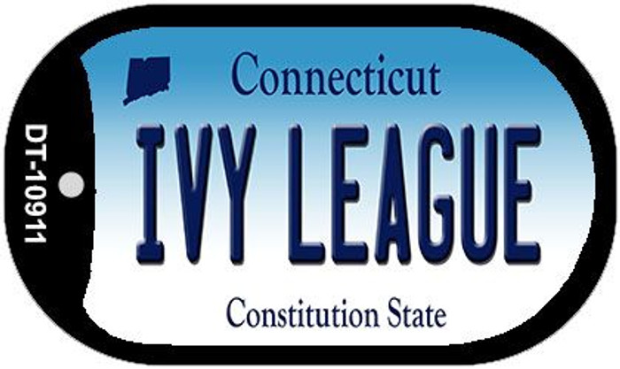 Ivy League Connecticut Wholesale Novelty Metal Dog Tag Necklace DT-10911