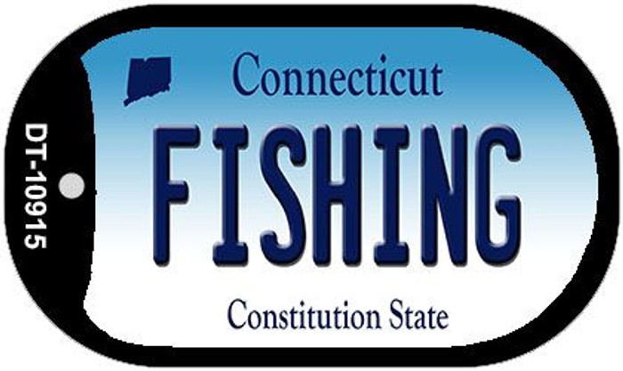 Fishing Connecticut Wholesale Novelty Metal Dog Tag Necklace DT-10915