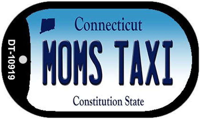 Moms Taxi Connecticut Wholesale Novelty Metal Dog Tag Necklace DT-10919