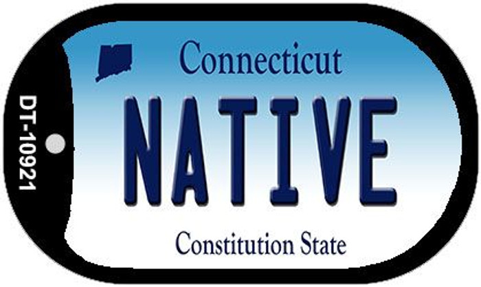 Native Connecticut Wholesale Novelty Metal Dog Tag Necklace DT-10921