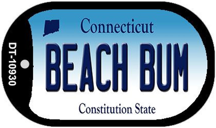 Beach Bum Connecticut Wholesale Novelty Metal Dog Tag Necklace DT-10930