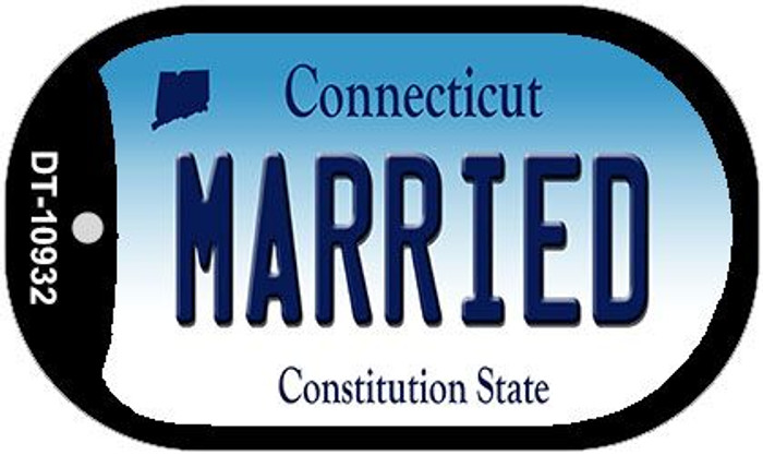 Married Connecticut Wholesale Novelty Metal Dog Tag Necklace DT-10932