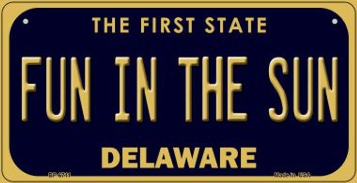 Fun in the Sun Delaware Wholesale Novelty Metal Bicycle Plate BP-6711