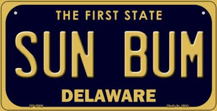 Sun Bum Delaware Wholesale Novelty Metal Bicycle Plate BP-6712