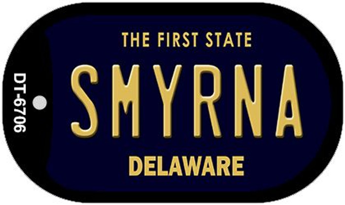 Smyrna Delaware Wholesale Novelty Metal Dog Tag Necklace DT-6706