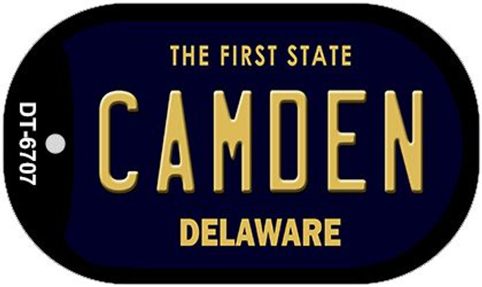 Camden Delaware Wholesale Novelty Metal Dog Tag Necklace DT-6707