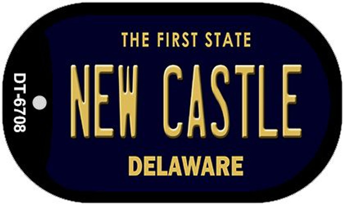 New Castle Delaware Wholesale Novelty Metal Dog Tag Necklace DT-6708