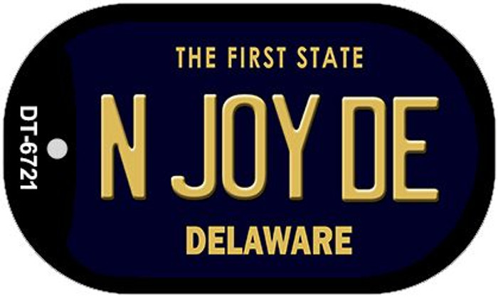 N Joy DE Delaware Wholesale Novelty Metal Dog Tag Necklace DT-6721