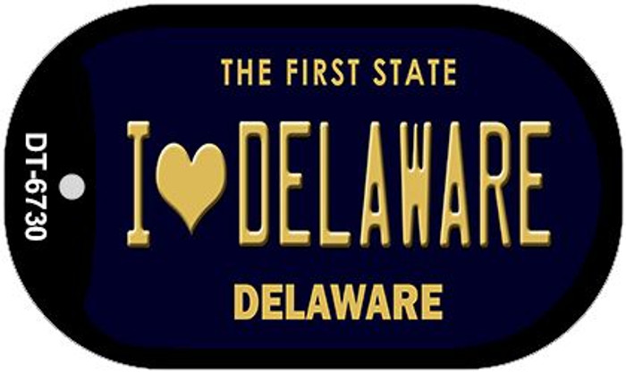I Love Delaware Wholesale Novelty Metal Dog Tag Necklace DT-6730