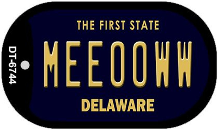 Meeooww Delaware Wholesale Novelty Metal Dog Tag Necklace DT-6744
