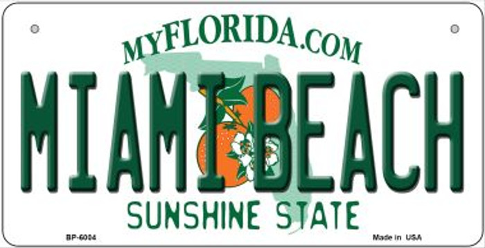 Miami Beach Florida Wholesale Novelty Metal Bicycle Plate BP-6004