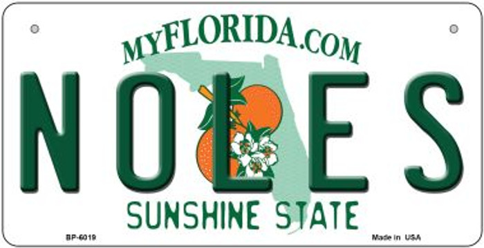 Noles Florida Wholesale Novelty Metal Bicycle Plate BP-6019