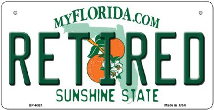 Retired Florida Wholesale Novelty Metal Bicycle Plate BP-6024
