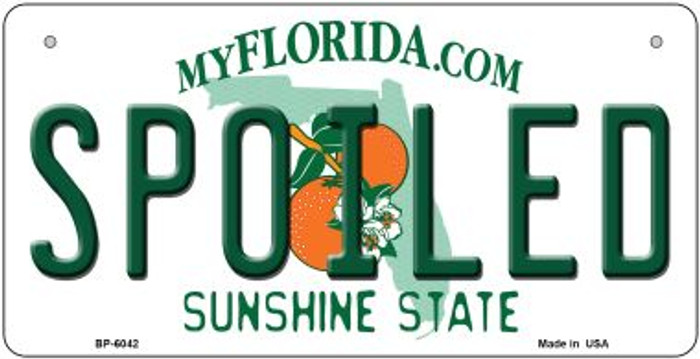 Spoiled Florida Wholesale Novelty Metal Bicycle Plate BP-6042