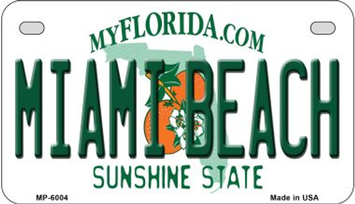 Miami Beach Florida Wholesale Novelty Metal Motorcycle Plate MP-6004