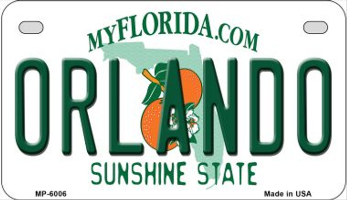Orlando Florida Wholesale Novelty Metal Motorcycle Plate MP-6006