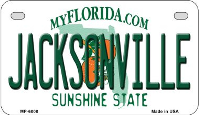 Jacksonville Florida Wholesale Novelty Metal Motorcycle Plate MP-6008