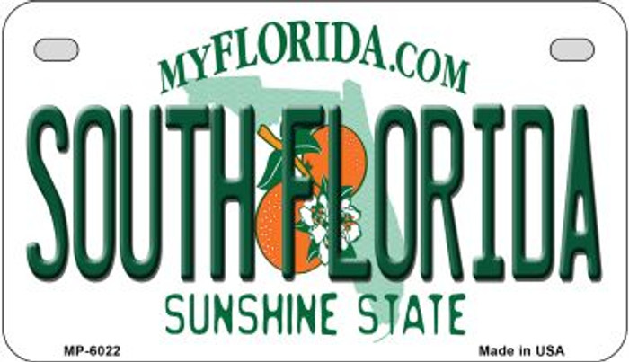 South Florida Wholesale Novelty Metal Motorcycle Plate MP-6022