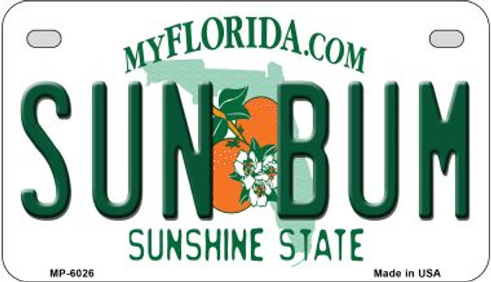 Sun Bum Florida Wholesale Novelty Metal Motorcycle Plate MP-6026