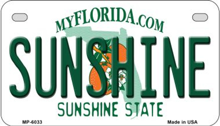 Sunshine Florida Wholesale Novelty Metal Motorcycle Plate MP-6033