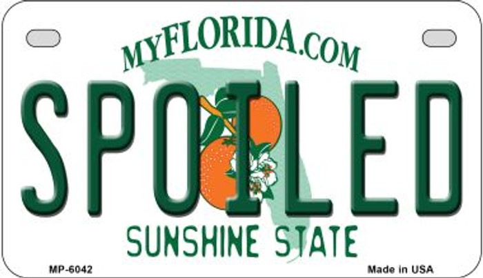 Spoiled Florida Wholesale Novelty Metal Motorcycle Plate MP-6042