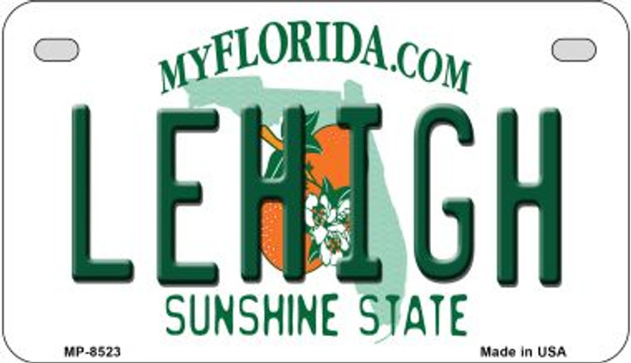 Lehigh Florida Wholesale Novelty Metal Motorcycle Plate MP-8523