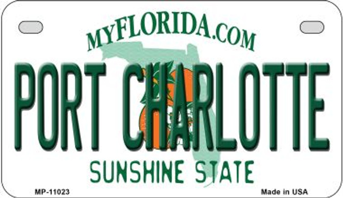 Port Charlotte Florida Wholesale Novelty Metal Motorcycle Plate MP-11023