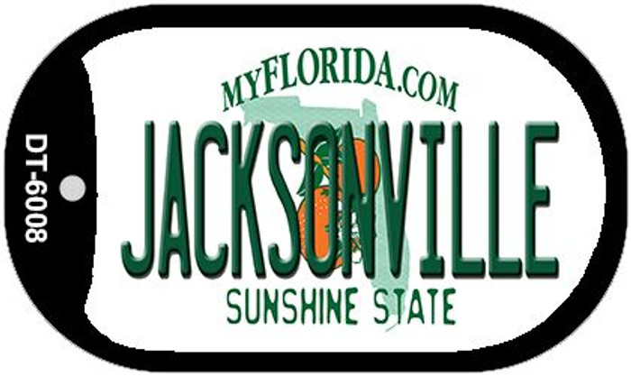 Jacksonville Florida Wholesale Novelty Metal Dog Tag Necklace DT-6008