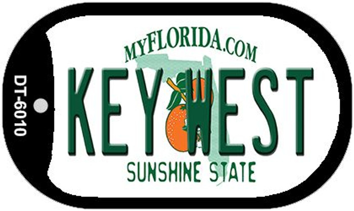 Key West Florida Wholesale Novelty Metal Dog Tag Necklace DT-6010
