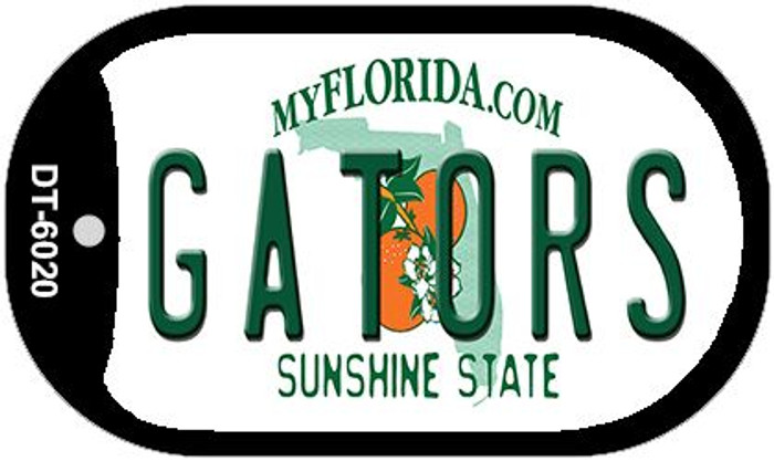Gators Florida Wholesale Novelty Metal Dog Tag Necklace DT-6020