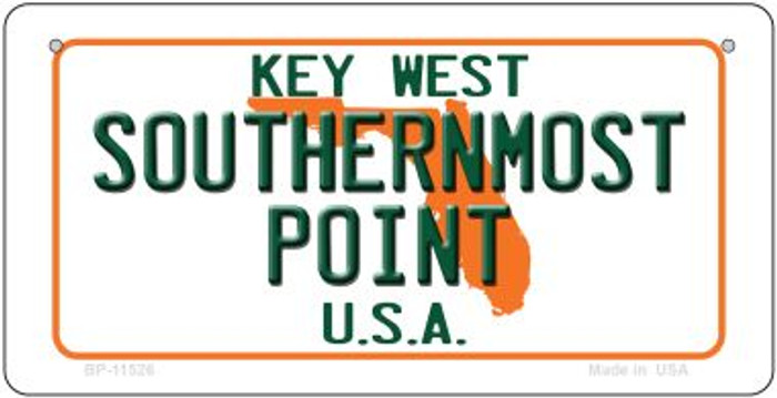 Southernmost Point Florida Wholesale Novelty Metal Bicycle Plate BP-11526