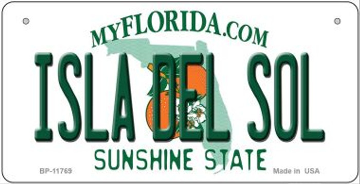 Isla Del Sol Florida Wholesale Novelty Metal Bicycle Plate BP-11769