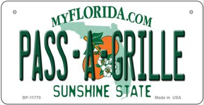 Pass A Grille Florida Wholesale Novelty Metal Bicycle Plate BP-11770