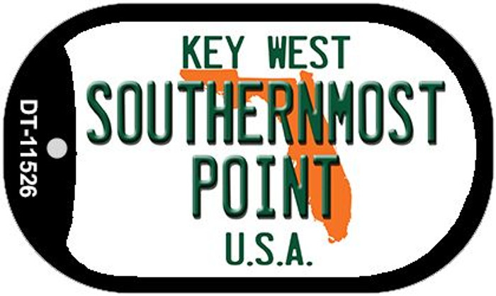 Southernmost Point Florida Wholesale Novelty Metal Dog Tag Necklace DT-11526