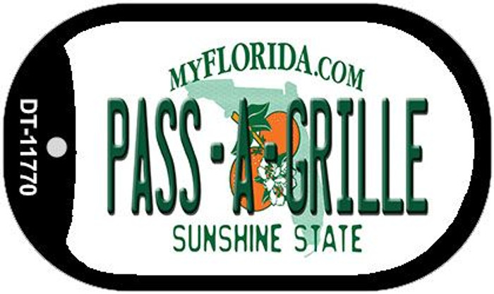 Pass A Grille Florida Wholesale Novelty Metal Dog Tag Necklace DT-11770