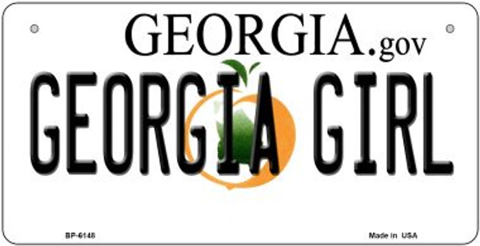 Georgia Girl Wholesale Novelty Metal Bicycle Plate BP-6148