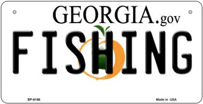 Fishing Georgia Wholesale Novelty Metal Bicycle Plate BP-6166