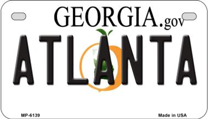 Atlanta Georgia Wholesale Novelty Metal Motorcycle Plate MP-6139