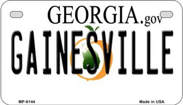 Gainesville Georgia Wholesale Novelty Metal Motorcycle Plate MP-6144